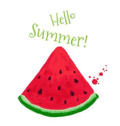 hello summer postcard vector image