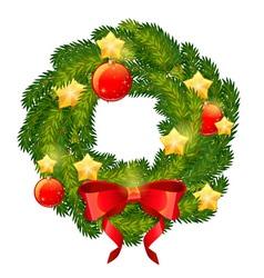 Christmas festive decorative wreath vector