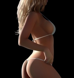 Woman body in bikini vector