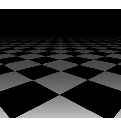Perspective checkered surface vector