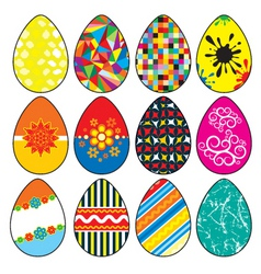 Stylized easter eggs vector