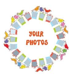Photo frame composition - funny design vector image