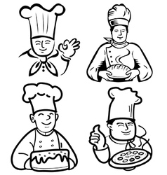 Chef and baker vector