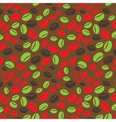 Colorful seamless coffee pattern vector