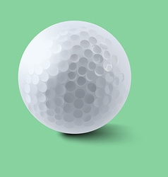 Golf ball on green background vector