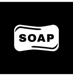 The soap icon soap symbol flat vector