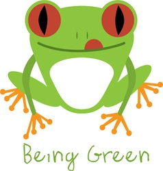 Being Green vector image