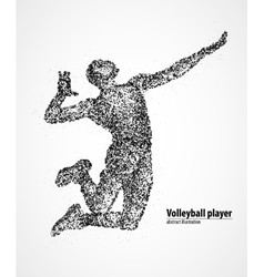 Volleyball player abstract vector