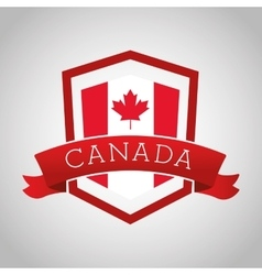 Canadas county design maple leaf icon shield vector
