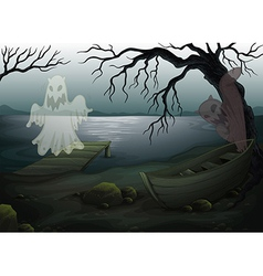 A spooky place vector image vector image