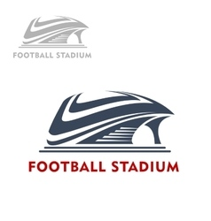 Abstract modern sports stadium icon vector