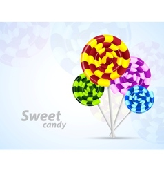 Background with candies vector image