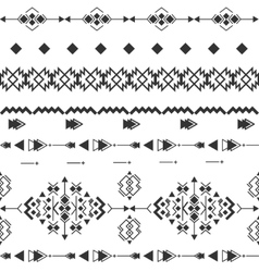 black and white navajo aztec seamless vector image vector image