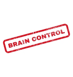 Brain Control Text Rubber Stamp vector image vector image