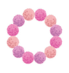 chunky wreath pink baby girl birthday party vector image vector image