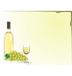 grapes and wine vector image vector image