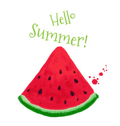 Hello summer postcard vector