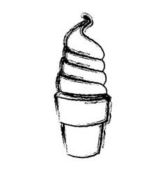 Ice cream cartoon frozen sweet image vector