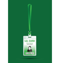id card woman green vector image