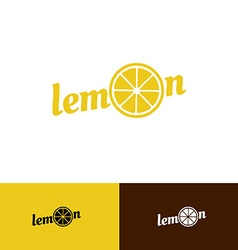 Lemon word logo vector