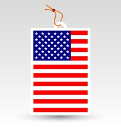 made in usa tag vector image vector image