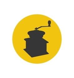 Manual coffee grinder mill vector