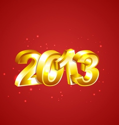 New 2013 Year Numbers vector image vector image