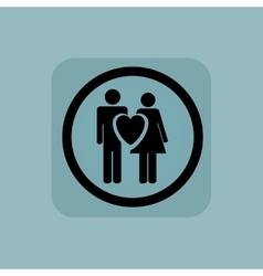 Pale blue love couple sign vector image