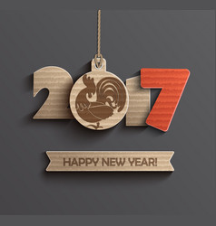 Symbol for happy new year 2017 vector