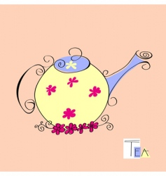 teapot illustration vector image vector image