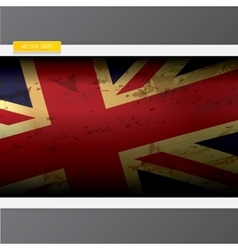 The United Kingdom or Union Jack grunge flag vector image