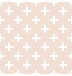 Tile cross plus pastel pattern vector