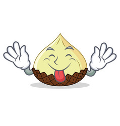 tongue out snake fruit mascot cartoon vector image vector image