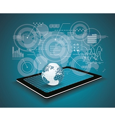 Touch pad personal computer technology business vector