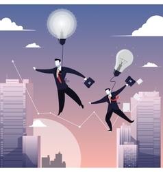 Two businessmen walking on vector