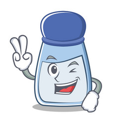two finger salt character cartoon style vector image