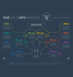web template of a info chart diagram or vector image vector image