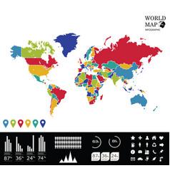World map info graphics vector