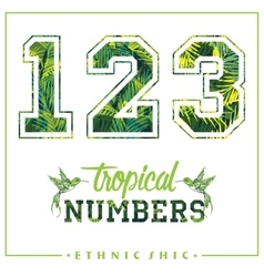 Tropical numbers for t-shirts posters vector