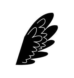 wing feather fly decoration symbol emblem vector image