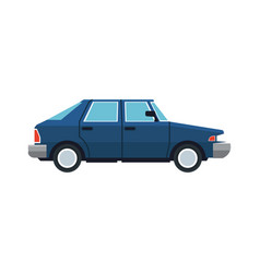 blue car sedan vehicle transport image vector image