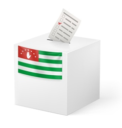 Ballot box with voting paper abkhazia vector