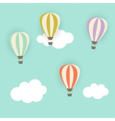 Retro pattern with air balloons vector