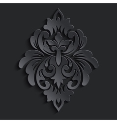Damask volumetric element dark volumetric vector