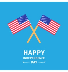 Two flags independence day flat design vector