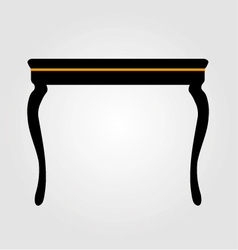 Modern wooden coffee table elevation vector