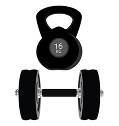 Dumbell set vector
