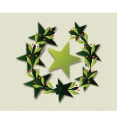 Star wreath vector