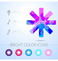 Star icon with infographic elements vector