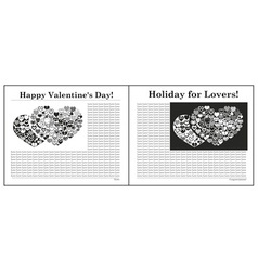 Newspaper Valentine Day vector image